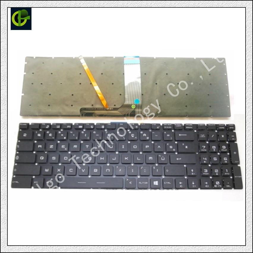 Французская Azerty RGB клавиатура с подсветкой для MSI GT62 GT72 GE62 GE72 GS60 GS70 GL62 GL72 GP62 GT72S CX62 GL63 GL73 GS72V FR