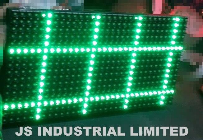 P10 ao ar livre única cor verde led módulo de exibição de painel