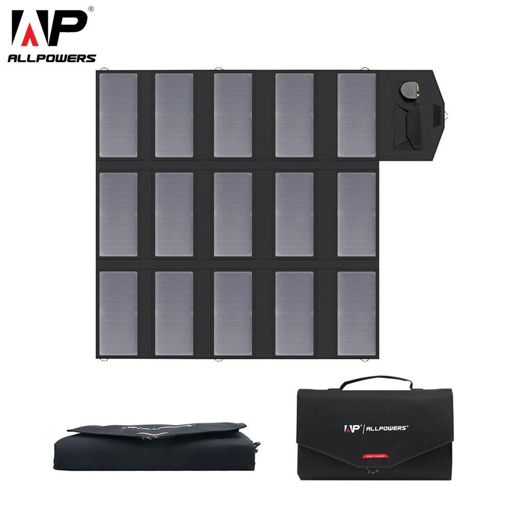 ALLPOWERS Portable Solar Panel 100W 18V 12V 5V Foldable Solar Cell Phone Charger USB Mobile Bank Charger Laptop Tablet