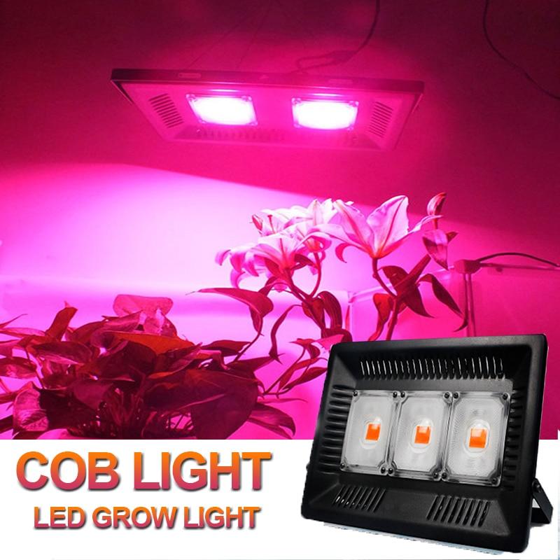 Tienda de cultivo, luz COB de 100W 150W, lámpara LED de cultivo para plantas Fitolampy Phyto, lámpara IP67 de espectro completo, lámpara de caja de crecimiento ultrafina