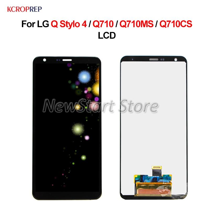 "Para LG Q Stylo 4 LCD pantalla táctil digitalizador 6,2 ""con marco para LG Stylo4 Q710 Q710MS Q710CS lcd reemplazo accesorio"