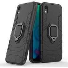 for Honor 8S Case Cover Luxury Thin Hard Armor Shockproof Car Holder Ring Case for Huawei Honor 8S 8