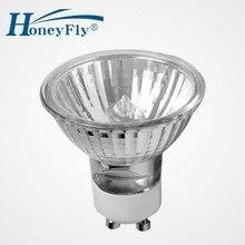HoneyFly 3 pièces GU10 ampoule halogène lampe 28 W 42 W 50mm 220 V forme de tasse halogène Spot lumière Grade C blanc chaud 2700 K GU10 Lamba Dimmable