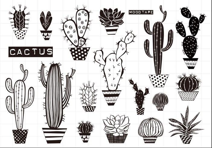 Sello transparente de Cactus para álbum de recortes de goma de silicona transparente DIY decoración de álbum de fotos