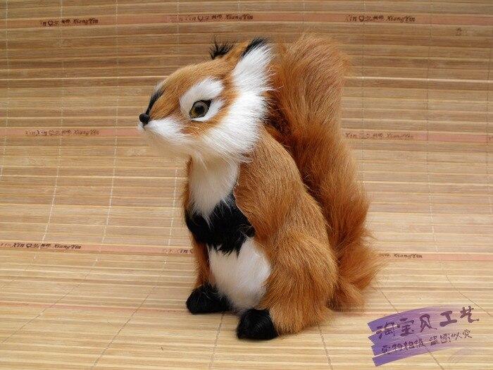 Simulación creativa ardilla juguete polietileno y pieles lindo muñeco de ardilla regalo alrededor de 18x10x20cm 2313