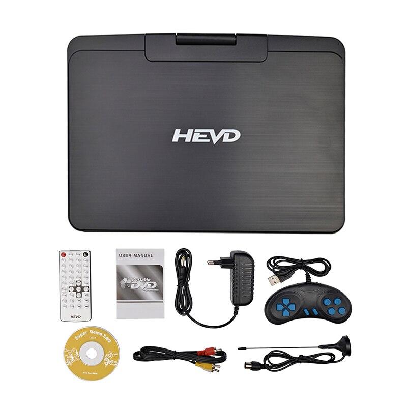 Dvd-плеер 13 дюймов HD портативный мобильный цифровой мультимедийный плеер ТВ EVD радио SD карта U диск MPEG MPEG4 VCD игра DVD плеер