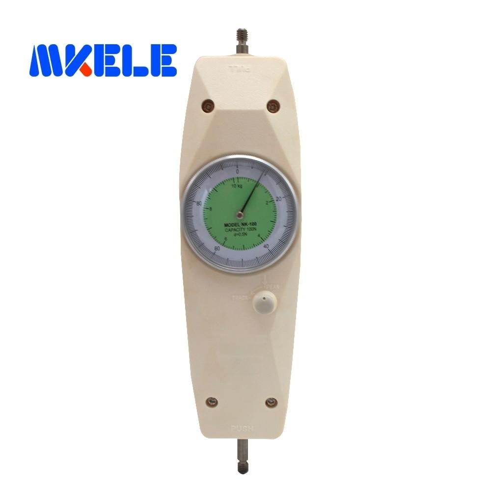 NK-100 100N pointeur dynamomètre analogique Push Pull jauge de Force testeur