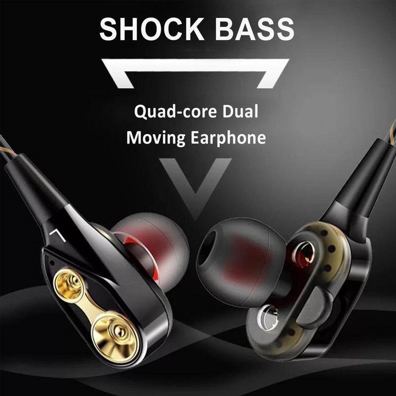 In-ear Dual Driver auricular Super Bass auriculares estéreo con micrófono Hifi auricular para teléfono
