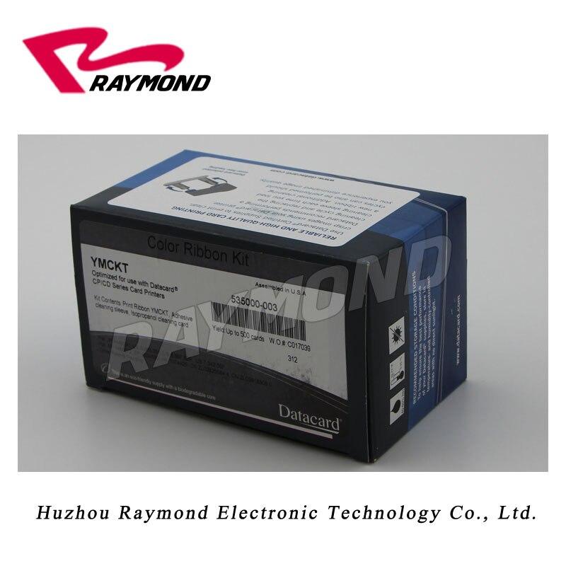 Datacard 535000-003 YMCKO Ribbon  work on  CP40 CP60 CP80  card printer-500 image