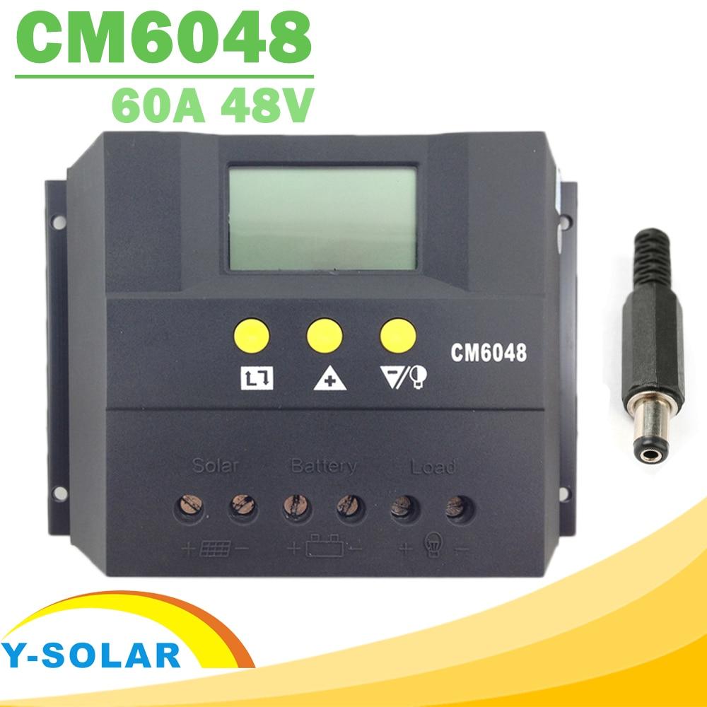 وحدة تحكم في تفريغ شحن البطارية الشمسية 60A ، 12V/12V/48V LCD ، منظم الجهد ، شاشة عرض PWM ، للإضاءة
