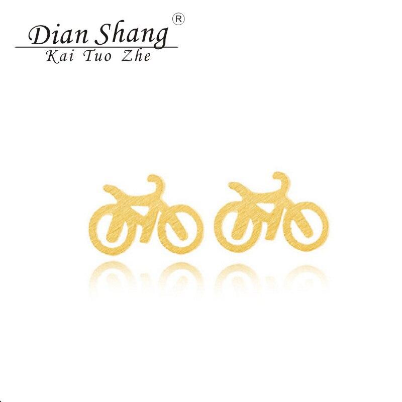 DIANSHANGKAITUOZHE 10 pièces Brincos Bicicleta acier inoxydable minimalisme vélo boucles doreilles bijoux vélo boucles doreilles pour les femmes Bff