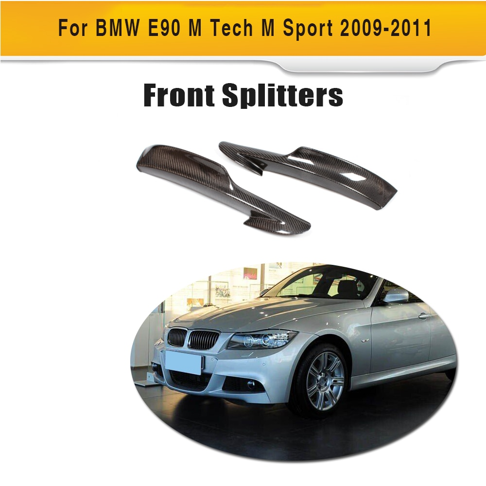 Фартук для переднего бампера из углеродного волокна для BMW E90 LCI M Sport Sedan 4 двери 325i 335i 2009-2011, 3 серии