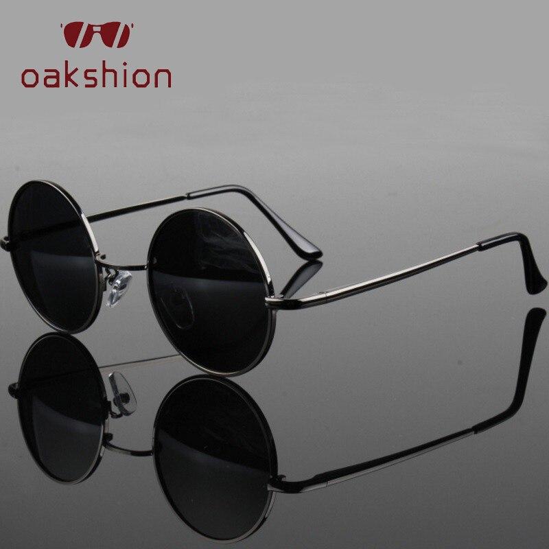 Gafas de sol polarizadas redondas clásicas con diseño de marca para hombre, gafas de sol para mujer, montura de Metal, gafas de conducción negras