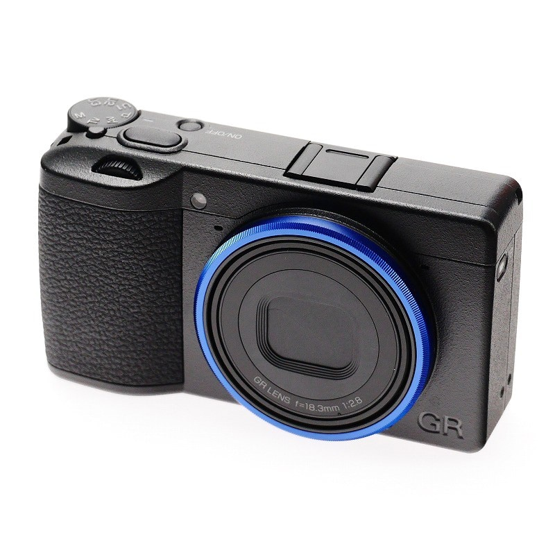 LIMITED EDITION Metal Original Blue Lens Ring fit for Ricoh GR /GR III/GR3 Camera enlarge