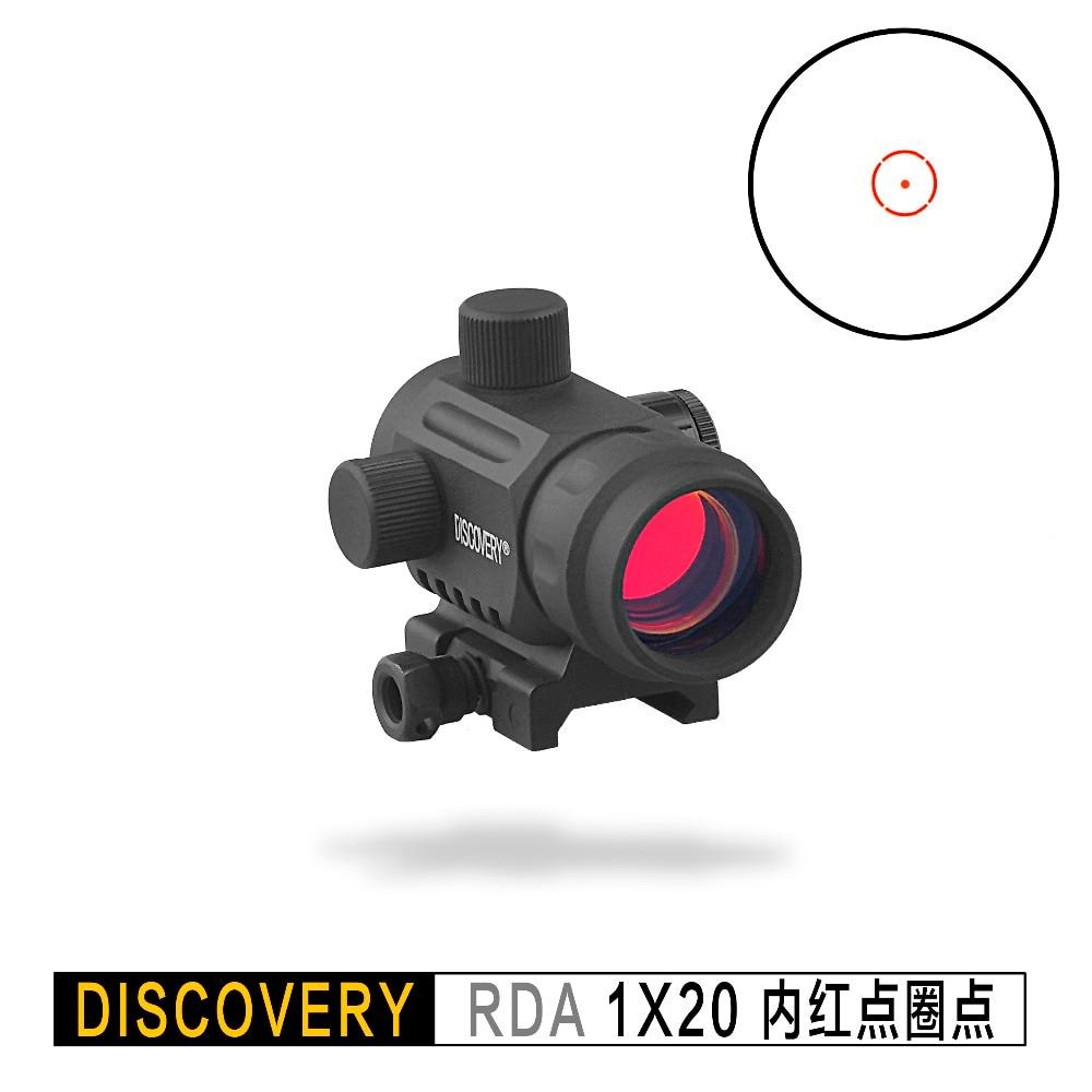 Descoberta ponto vermelho rda 1x20 vista óptica holográfica tático airsoft óptica caber picatinny 20mm ferroviário