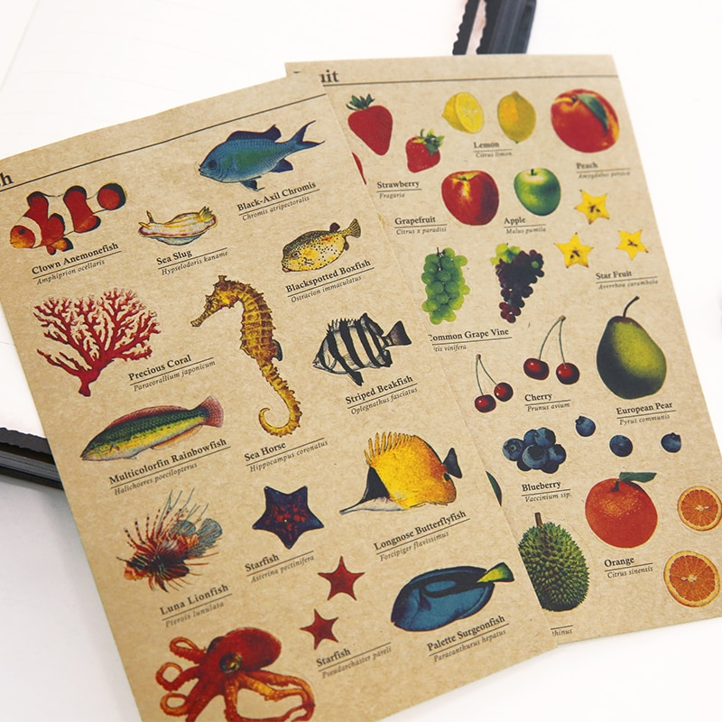 8 pçs/lote kraft do vintage adesivos marcas adesivo para diário carta quadro scrapbook diy presente selo artigos de papelaria material escolar f132