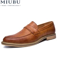 miubu oxford shoes for men leather 2020 lace up front men dress shoes fashion pointed toe men shoes leather male flats luxury