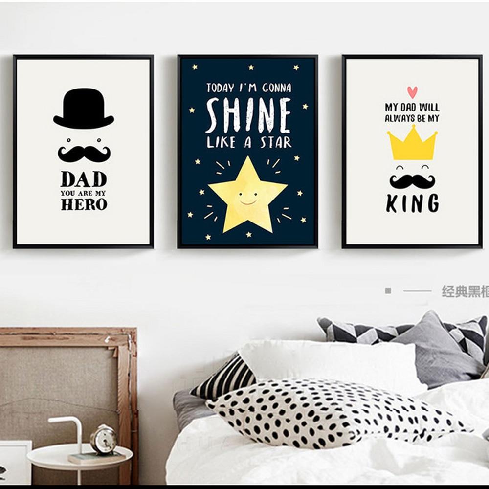 Xdr057 Simple Negro Nórdico y blanco Original grande lienzo pintura familia quoeposterprint foto niños dormitorio decoración Póster
