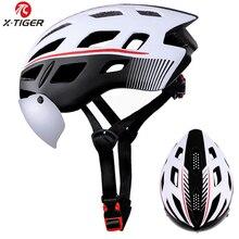 X-TIGER coupe-vent 2 lentilles casque de cyclisme EPS insecte Net route vtt vélo casque de vélo de cyclisme intégralement moulé