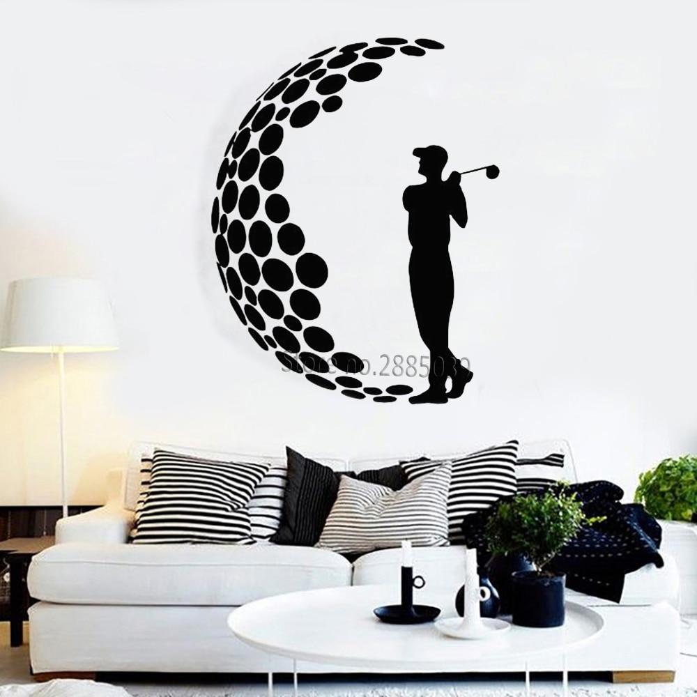 Calcomanías de jugador de Golf, etiqueta de pared deportiva de vinilo, juego de cancha, decoración Interior, papeles pintados, pegatinas de golf extraíbles, muraux impermeable LC932