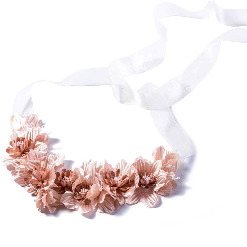 Flores niñas corona niños Floral cinta para el cabello con guirnalda de flores diademas de guirnaldas con cinta para Festival Fiesta de bodas (ED109)
