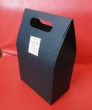 16*10*6 cm bolsa de papel Kraft negro, embalaje de caramelos DIY, paquete de aperitivos de azúcar de 50 piezas