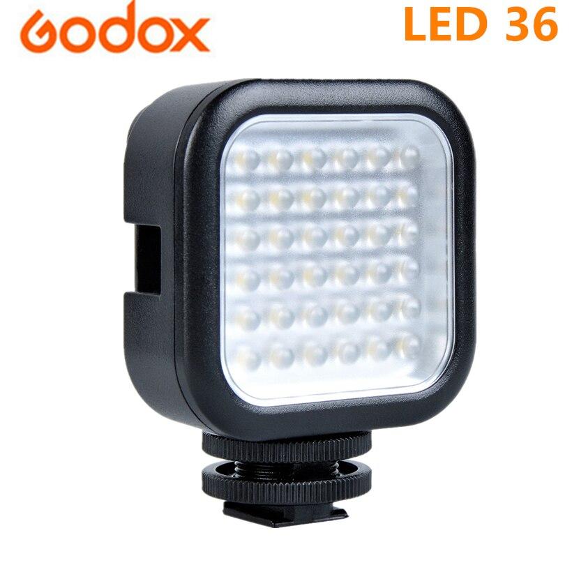 Godox LED 36 fotográfico iluminación lámpara de luz LED para la cámara Digital videocámara DV réflex Digital Mini DVR 5500-6500K CCT