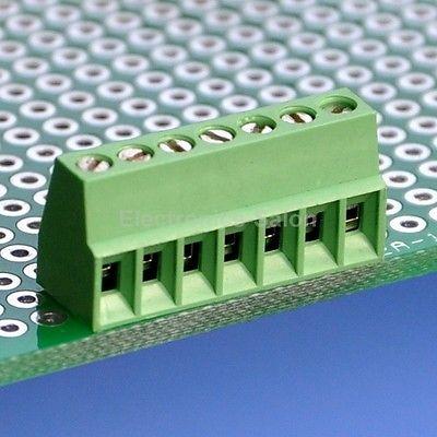 "10 stücke 7 Pole 2,54mm/0,1 ""PCB Universal Schraubklemmenblock"
