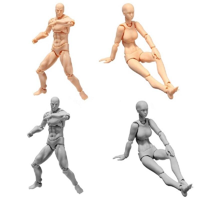 Sketch Body Kun/Body Chan DX Set movible masculino/femenino Anime Archetype He She ferrita Figma movible acción figura miniaturas modelo