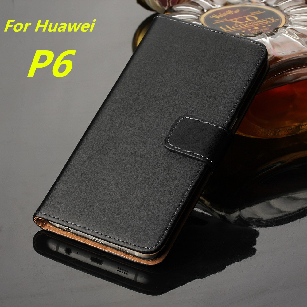 Funda de cuero Premium con tapa Huawei P6 de lujo tipo billetera funda para Huawei P6 P6s tarjetero funda de teléfono GG