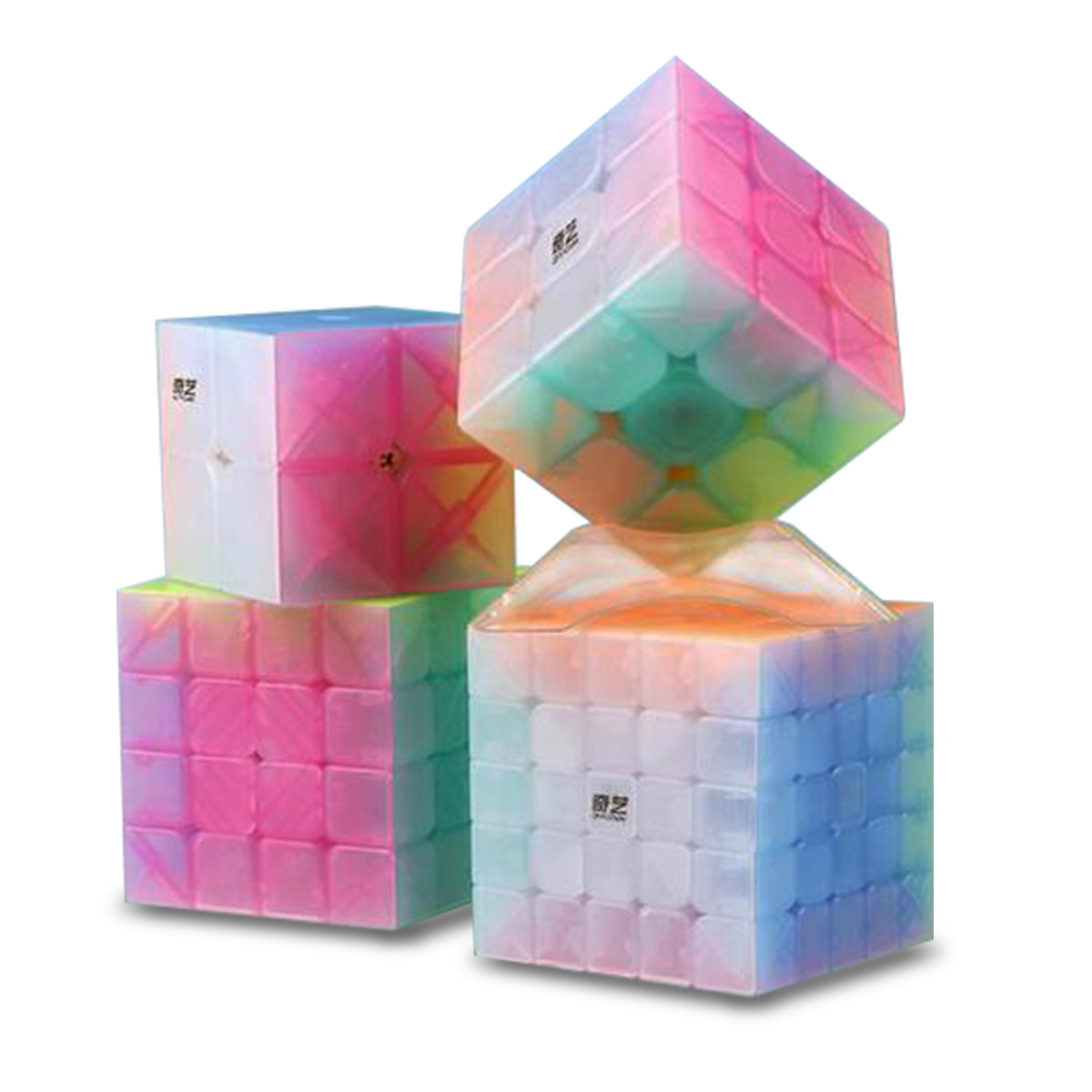QiYi 2x2 3x3 4x4 5x5 Jelly Cube Design Speed Cube Puzzle Magic Cube Base Cubo Magico Educational Toys For Children 4x4x4 qiyi magic cube professional speed puzzle cube educational toys for kids children xmas gifts cubo magico rubic