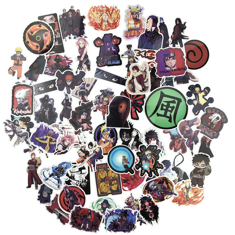 70 Uds Naruto Kakashi Sasuke Mix Laptop pegatinas DIY pegatina para niños juguetes coches teléfono portátil bicicleta impermeable