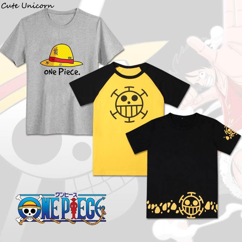 Милая цельнокроеная футболка с единорогом 24 стиля футболка с Луффи Эйсом, аниме, косплей, Мужская хлопковая футболка одежда для мальчиков летние топы, футболки