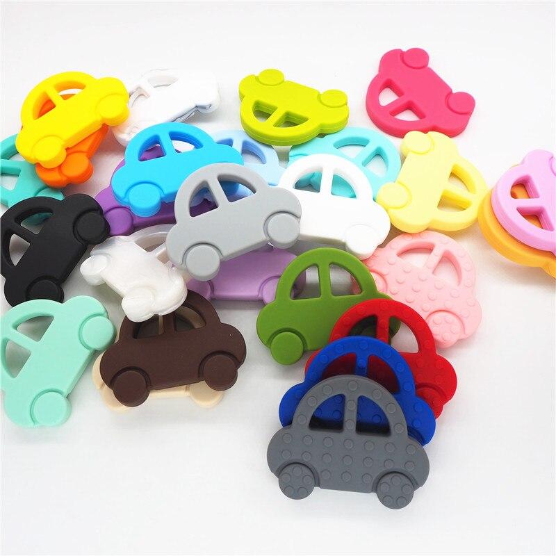 Chenkai 2 stücke Silikon Auto Beißring DIY Baby Schnuller Dummy Kauen Sensorischen Anhänger Schmuck, Der Montessori Spielzeug Zubehör