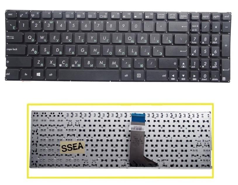 SSEA Новая русская клавиатура без рамки для Asus X551 X551C X551CA F550 F550V X552C X552E X554L X551M X551MA Клавиатура для ноутбука RU