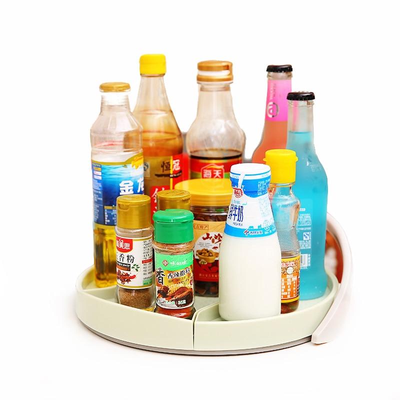 Bandeja de almacenamiento portátil ZORASUN, plato giratorio redondo, 11 pulgadas, armario Lazy Susan non-skip, plato giratorio, soporte para estante de especias, organizador de bebidas