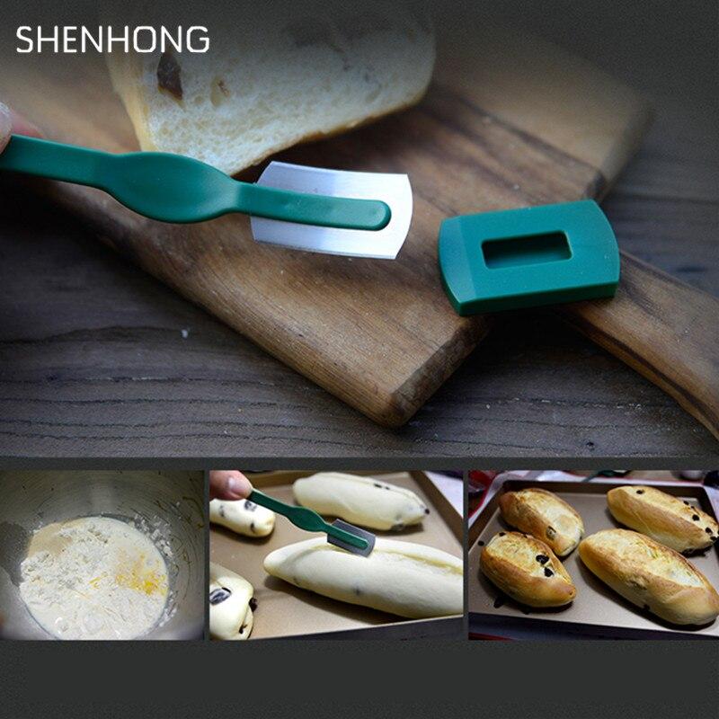 Especialidade Europeu Pão Curvo Arco Pão Baguette Corte De Faca Ocidental-estilo Francês Cortador de Toas Prestrel Bagel Ferramentas da cozinha