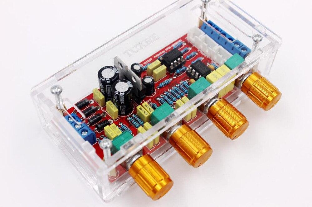 NE5532 OP-AMP HIFI preamplificador de amplificador de tono EQ Control kits de bricolaje o producto terminado shell transparente