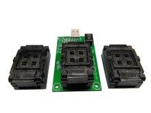 EMMC eMCP prise dessai 3 en 1 avec USB + 5 pièces frontière limiteurs, BGA153/169/162/186/221 pour tester/téléphone intelligent récupération de données 12x16mm
