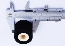 Black Diameter 36mm Height 32mm hot stamping date coder ink roller for HZ 100 coding machine