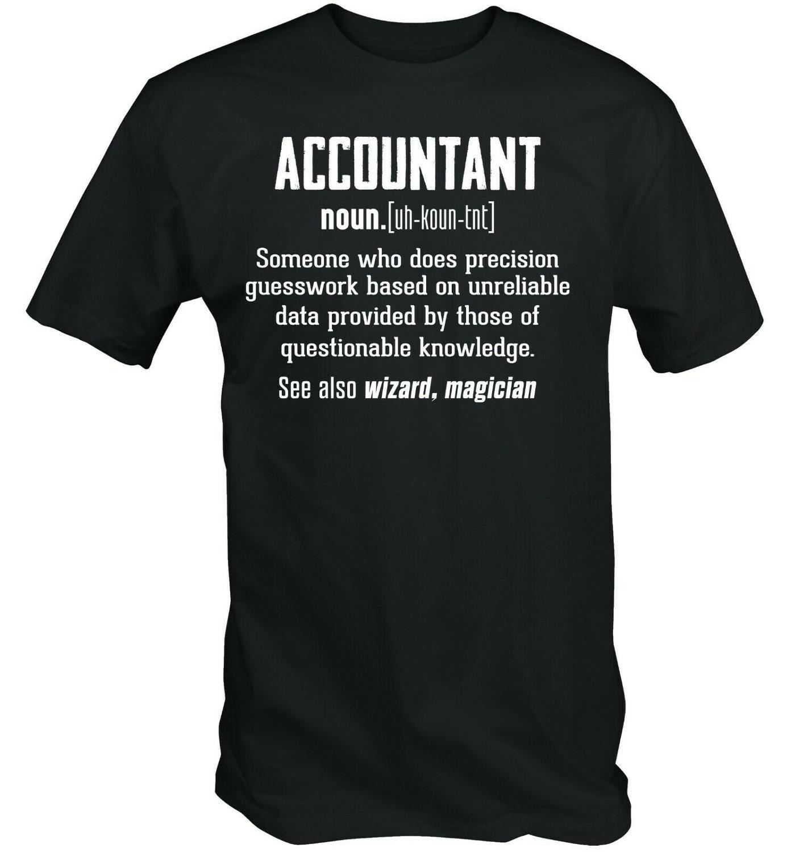 Camiseta con Logo sólido de moda novedosa 2019 para hombre con temática de libros de trabajo de definición de diccionario de contador divertido