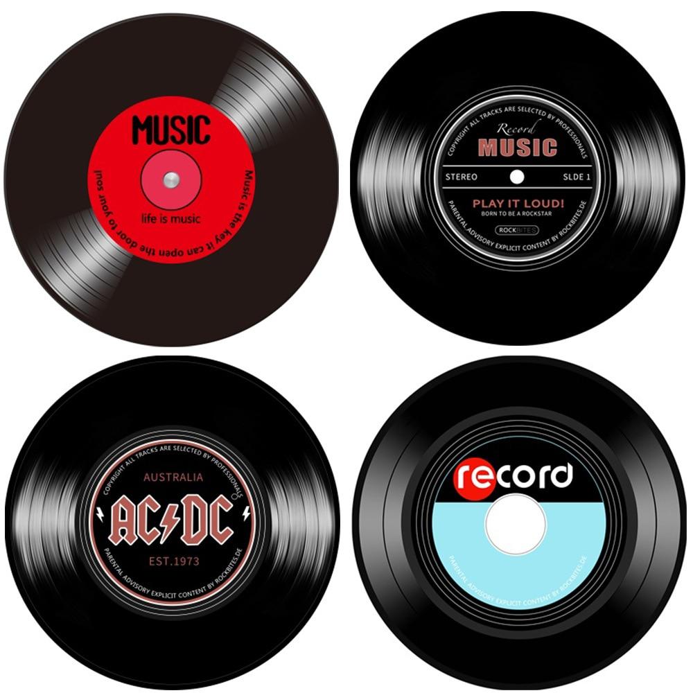 Retro Muziek Vinyl Record 3D Gedrukt Ronde Tapijten Voor Woonkamer Home Decor Tapijten Kinderkamer Computer Stoel Matten Kinderen gift