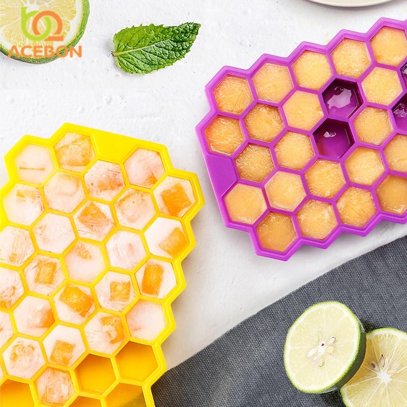 36 redes forma cuadrado de silicona forma bandeja con moldes para cubitos de hielo fruta helado Maker para vino de Bar de cocina beber Accesorios