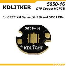 KDLITKER 5050-16 / 5050-20 DTP медь MCPCB для Cree XM Серии/XHP50/5050 светодиодов (5 шт.)