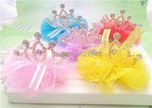 Cute!!! High Quality Pet Accessories Dog Hair Accessories Rhinestone Princess Gold Crown Hair Clips Pet Grooming 10pcs/lot