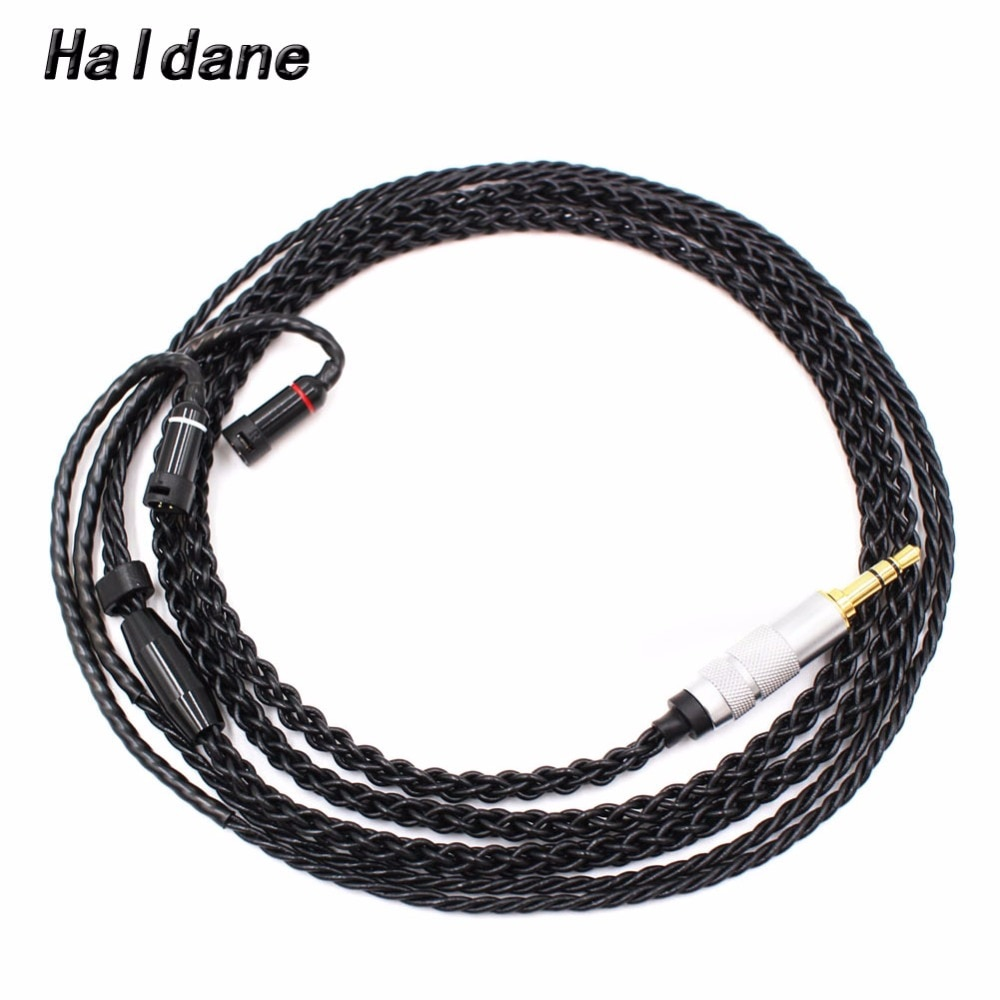 Free Shipping Haldane 1.2m 8 Cores Audio Upgrade Cable Compatible with ie8i/ie80/ie80s Headphones
