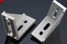 Attache du support de connecteur 40x80   angle de montage dangle 4080 en aluminium de 10 pièces, utiliser comme profil aluminium industriel 4040
