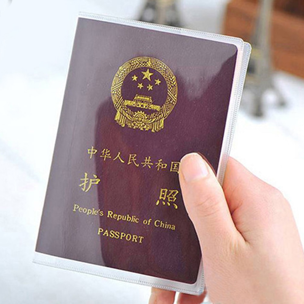Cubierta de pasaporte impermeable pasaporte Protector opaco o transparente
