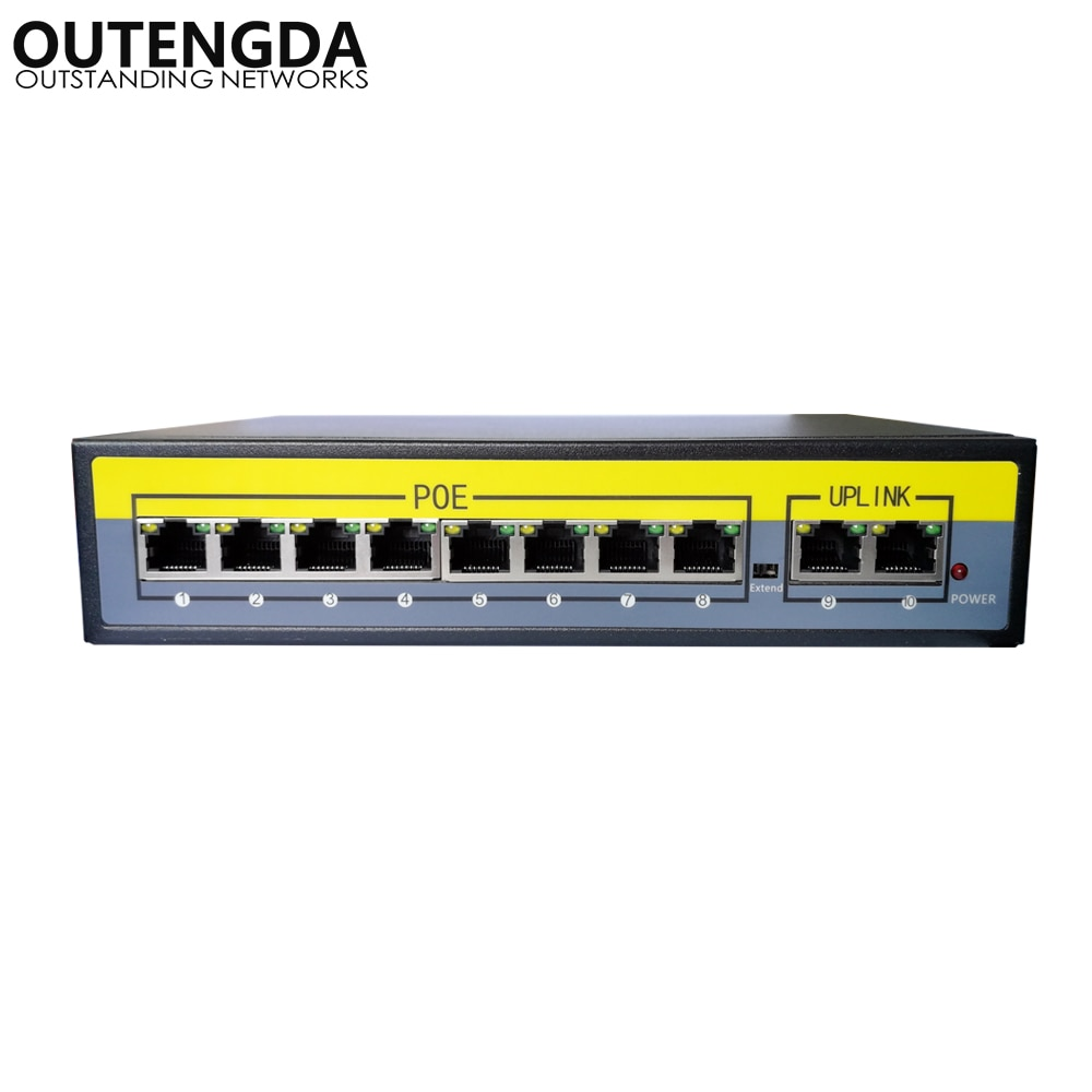 2 8 portas 100 mbps interruptor power adapter over ethernet poe ieee 8023af at para