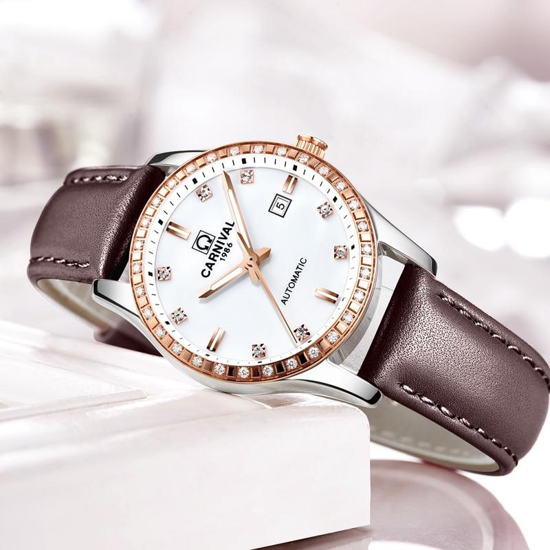 Switzerland Carnival Women Watches Luxury Brand ladies Automatic Mechanical Watch Women Waterproof relogio feminino 8685L-4 enlarge